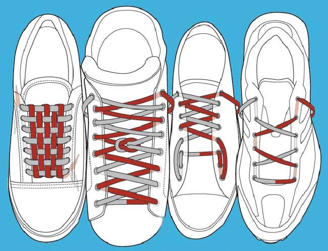 art lacet astuces baskets 2 - 10 Idées Tendances pour Lacer ses Baskets (video)