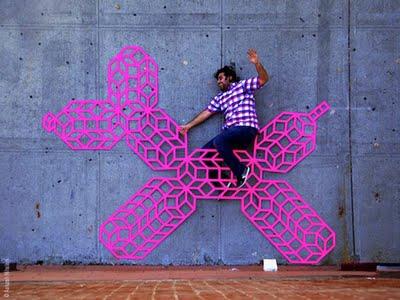 , Aakash Nihalani : Street Art et Rubans Adhesifs