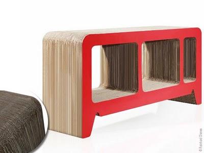 mobilier en carton design. Black Bedroom Furniture Sets. Home Design Ideas