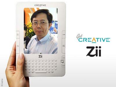 , Creative Zii : Lecteur d'eBook Multimedia