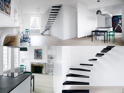 Deco Appartement Parisien : Harmonie en Noir et Blanc - MaxiTendance