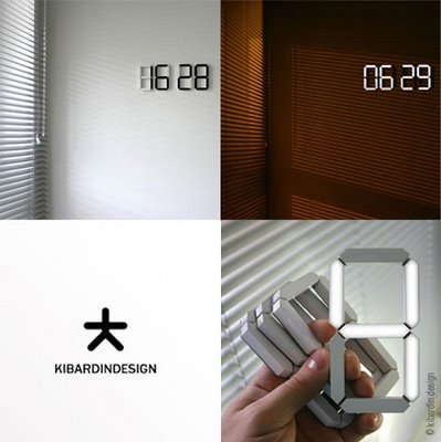 , Black & White Clock : Horloge Digitale OLED