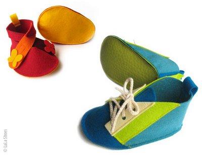 , Lala Shoes : Chaussures Bebes Feutrine et Lin