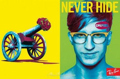 rayban ads 02 RayBan Never Hide : Pub Printemps Ete 2009