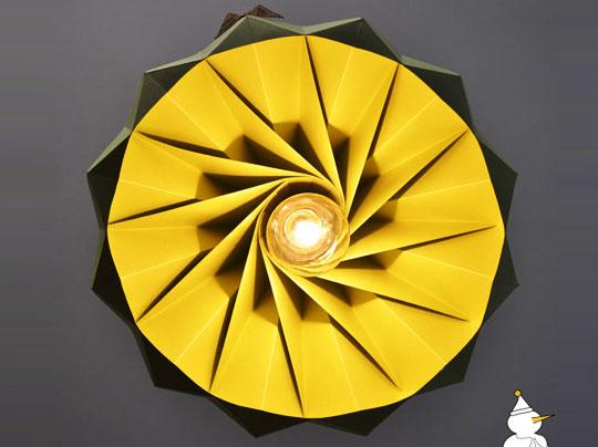 snowpuppe lamp 3 - Studio Snow Puppe : Suspensions Origami