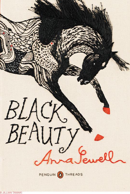 , Jillian Tamaki pour Penguin : Couvertures de Livres Brodées