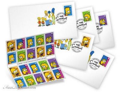 """, Timbres Poste """"The Simpsons"""" : 20 ans Déjà"""
