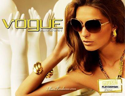 vogue eyewear 2 - Vogue Eyewear Lunettes de Soleil : Campagne Pub 2009