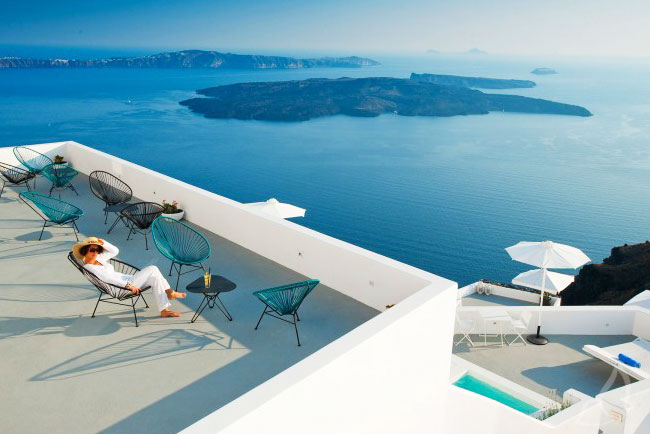 , Grace Santorini Hotel Enchâssé dans la Falaise