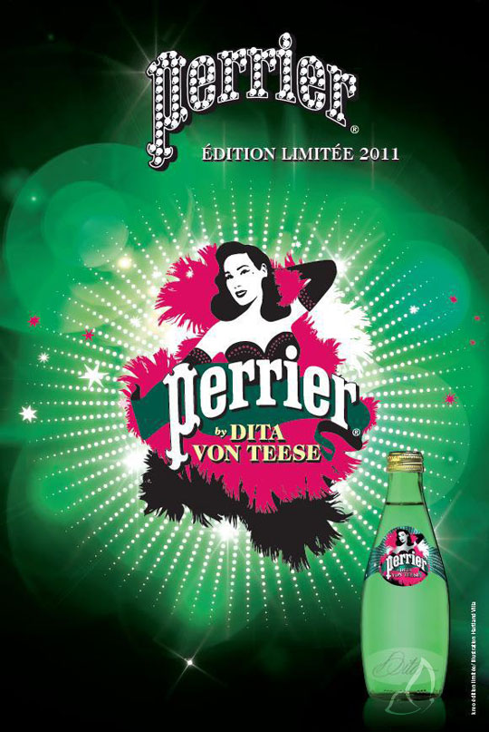 , Perrier Dita Von Teese : Edition Limitée Noel 2011