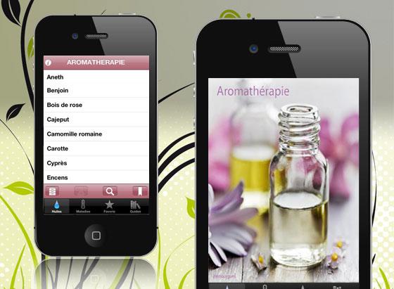 , Aromathérapie iPhone : L'Encyclopédie des Huiles Essentielles et Végétales