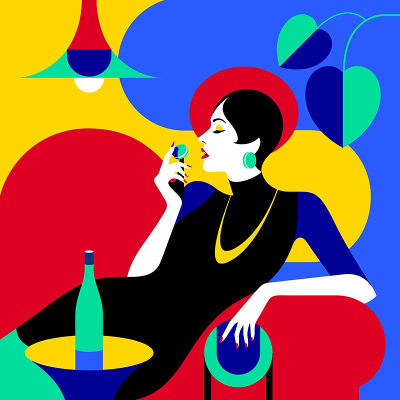 illustrations malika favre, La Mode en Illustrations Vectorielles par Malika Favre