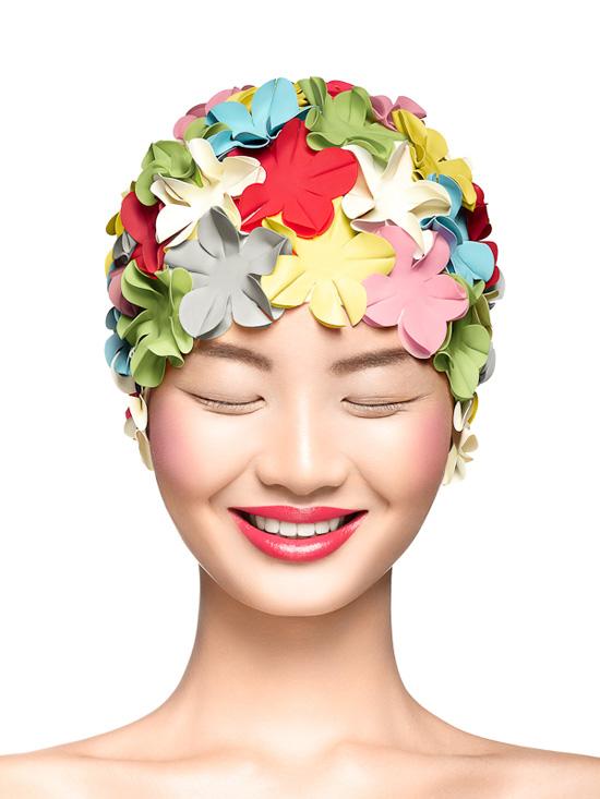 Yulia Gorbachenko Bonnet De Bain En Fleur Maxitendance