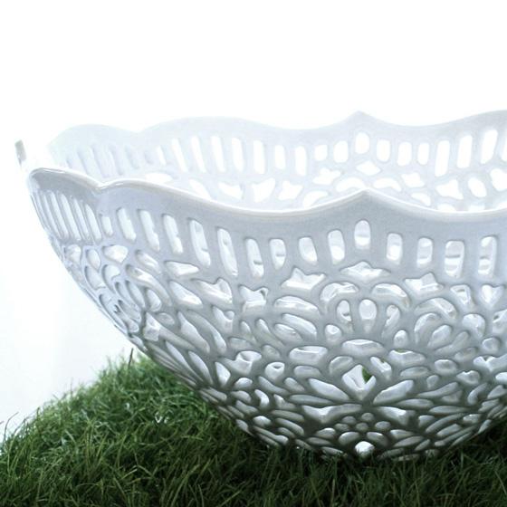 , Isabelle Abramson : Dentelle et Porcelaine Blanche