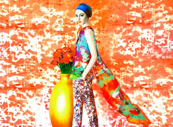 mary katrantzou erik madigan heck campagne 2012, Mary Katrantzou Eté 2012 par Erik Madigan Heck : Campagne en Fleurs