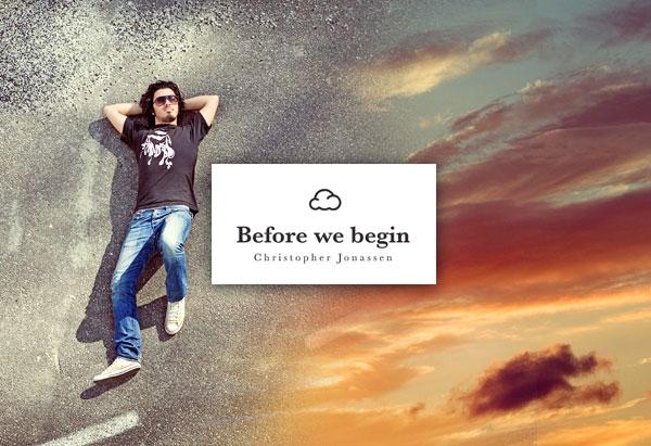 , Before We Begin par Christopher Jonassen : La Tete dans les Nuages