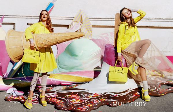, Mulberry Printemps Ete 2012 : Une Pub Acidulee