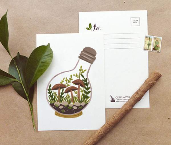 Cartes Serres Miniatures par Quill and Fox