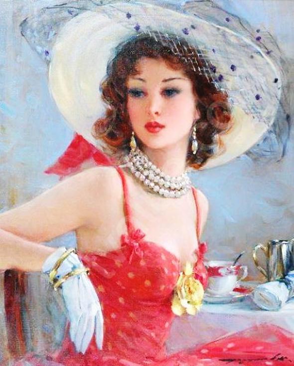 Peinture Konstantin Razumov 11 Peintures Konstantin Razumov : Impressionnisme Glamour