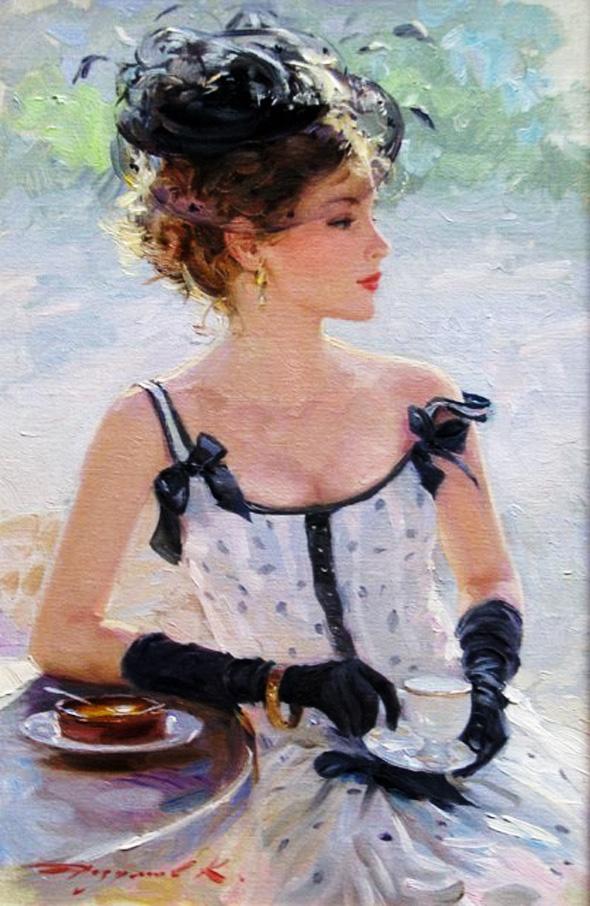 , Peintures Konstantin Razumov : Impressionnisme Glamour