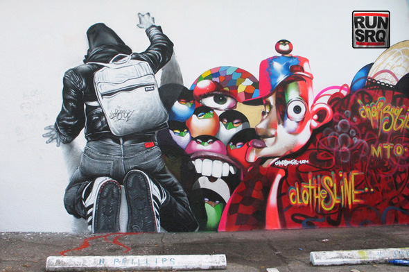 mto graffiti art 1 MTO un Graffiti Artiste aux Peintures Hyper Realistes