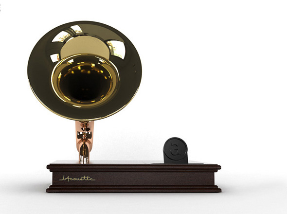 , AbiteDesign iAcoustic iPhone : Authentique Station d'Accueil Gramophone