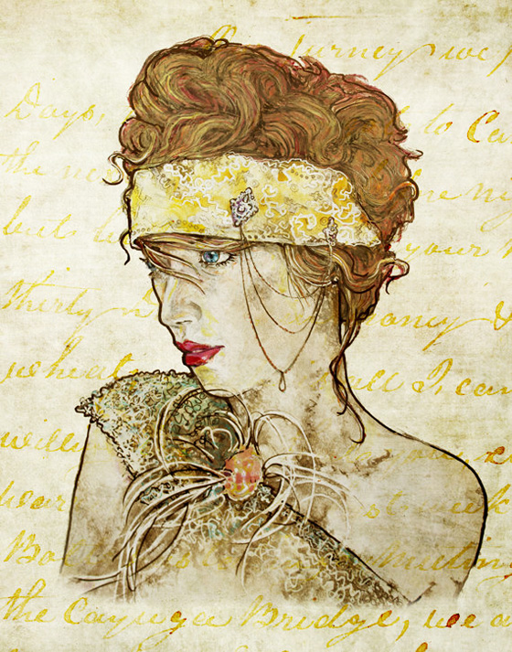 Zar Zahariev Art Deco Illustrations 1 Zar Zahariev Illustrations : Belle Dame au Chapeau