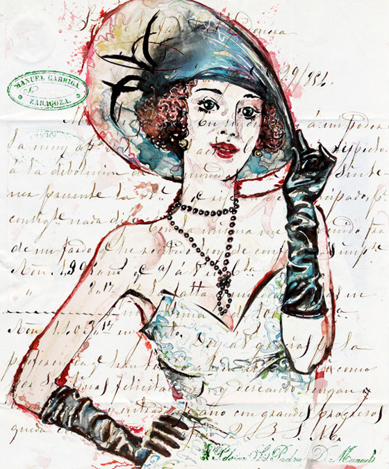 Zar Zahariev Art Deco Illustrations 2 Zar Zahariev Illustrations : Belle Dame au Chapeau