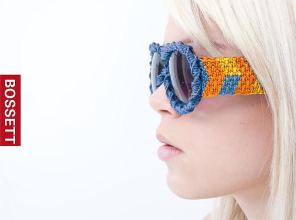 lunettes soleil bossett macrame, Lunettes de Soleil Bossett Macrame aux Couleurs Estivales