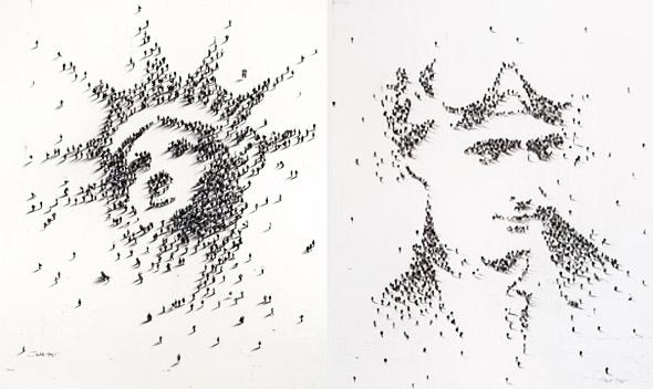 , Craig Alan Photographie : Human Pixel Art en Portraits