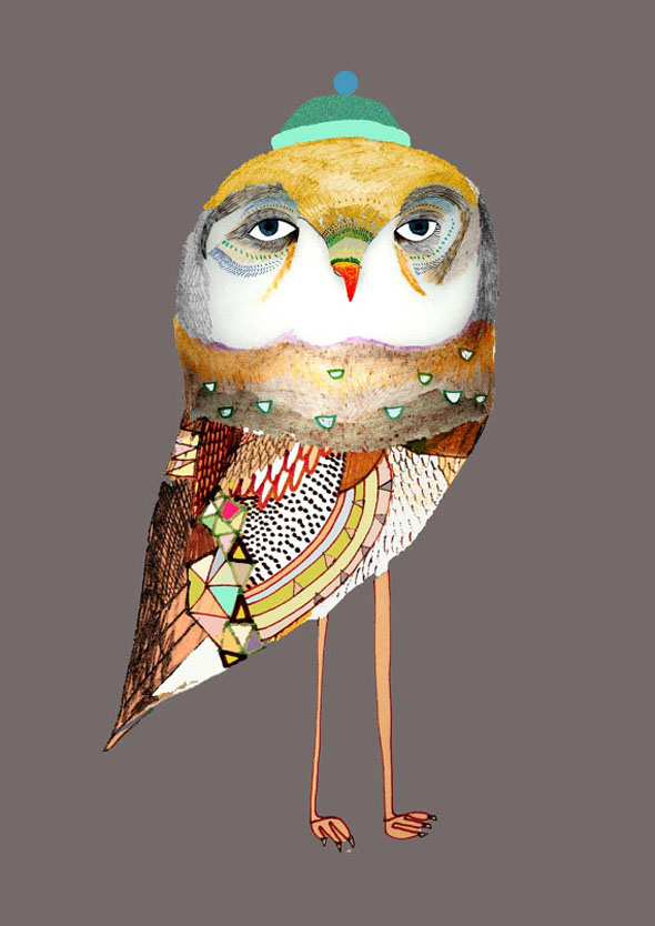 AshleyPercival Owl Chouettes Print 3 Ashley Percival Illustrations : Des Chouettes Graphiques et Colorées
