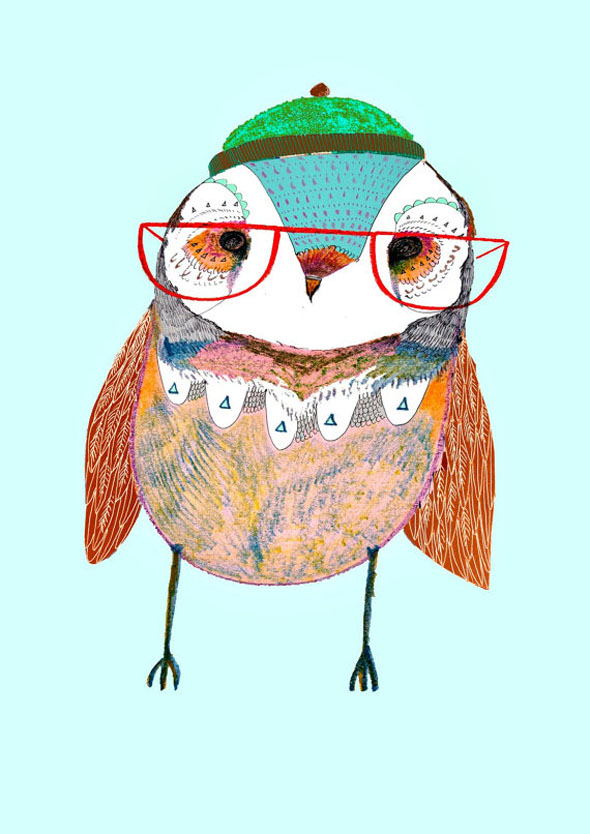 AshleyPercival Owl Chouettes Print 4 Ashley Percival Illustrations : Des Chouettes Graphiques et Colorées