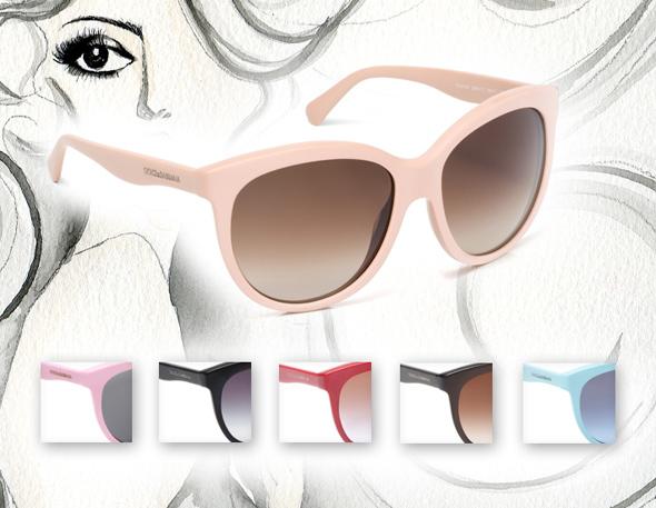 , Lunettes de Soleil Dolce & Gabbana : Collection Matt Silk Été 2012