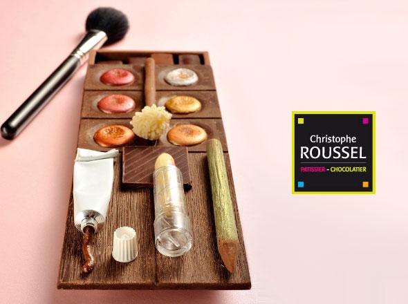 , Christophe Roussel : Palette de Maquillage en Chocolat