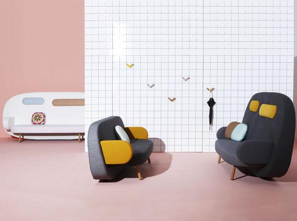 , Sofa Float par Karim Rashid pour Sancal