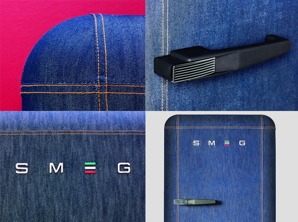 smeg denim, SMEG FAB 28 Denim, un Refrigérateur en Jean (video)