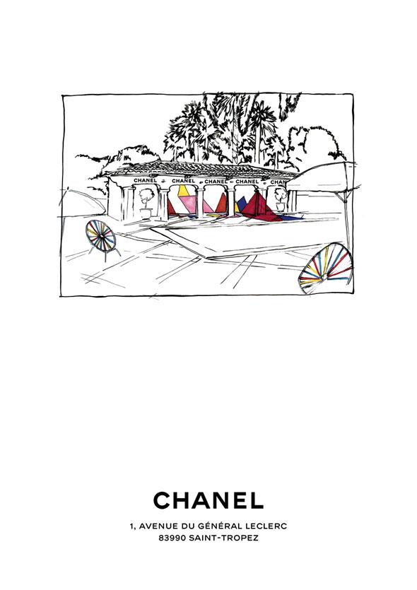 , Chanel Saint-Tropez : Boutique Ephémère Ete 2012