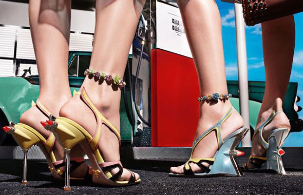 prada shoes women ss ete 2012 1 Sandales et Escarpins Prada Eté 2012