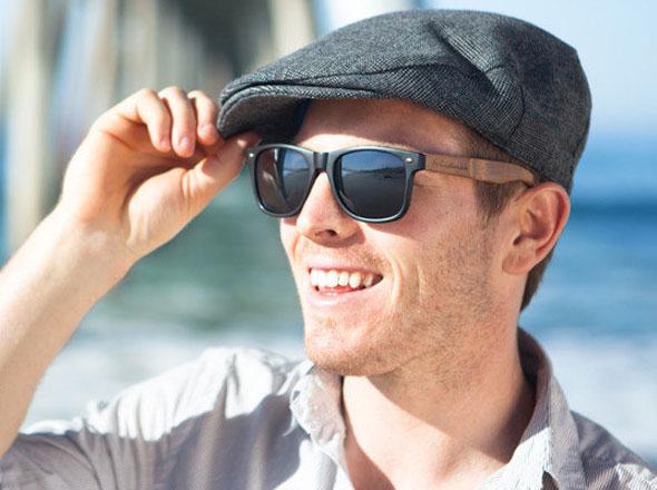 , Woodwear Sunglasses : Lunettes de Soleil WayFarer Ecolo en Bambou