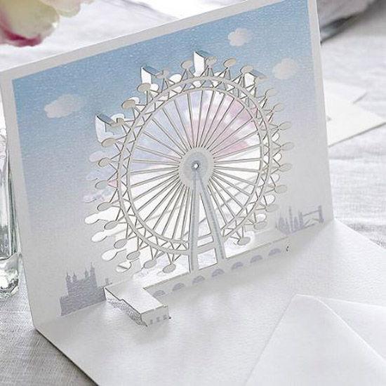 london pop up card cartes 1 Architecturales Cartes Pop Up de Londres
