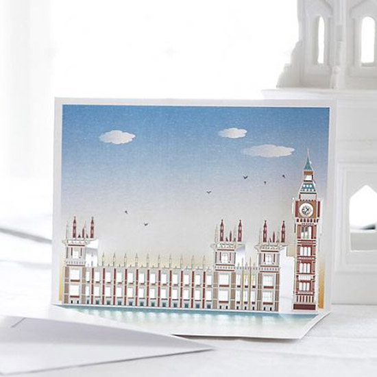 london pop up card cartes 6 Architecturales Cartes Pop Up de Londres