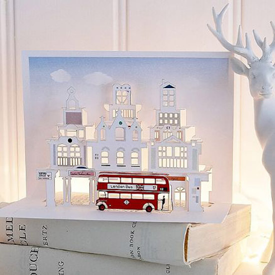 london pop up card cartes 7 Architecturales Cartes Pop Up de Londres