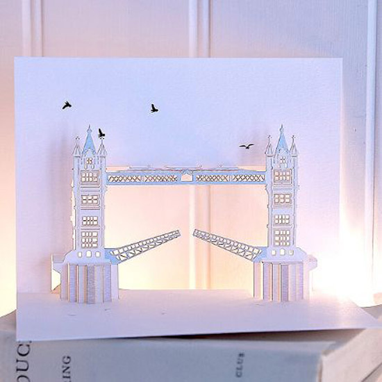 london pop up card cartes 9 Architecturales Cartes Pop Up de Londres