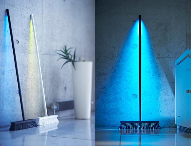 , Luminaire MoodBroom par Peteris Zilbers : Le Balai des Luminaires