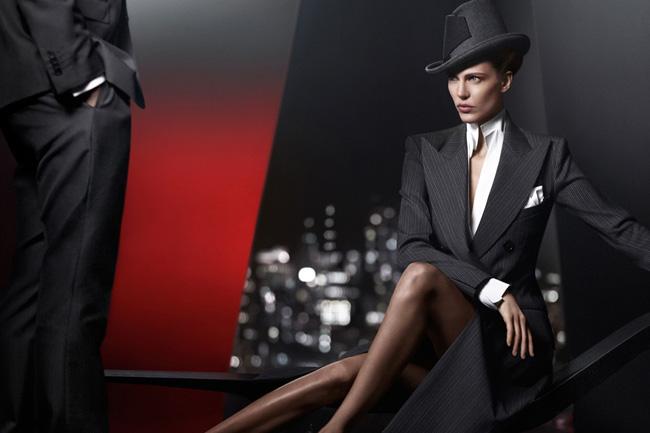 Campagne Donna Karan Hiver 2012 2013 en Rouge et Noir