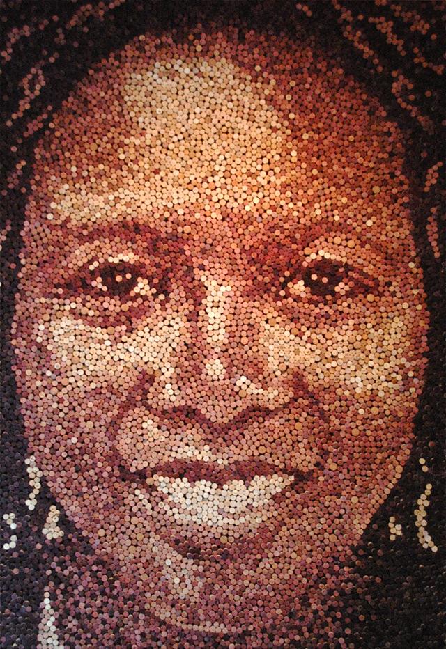 , Scott Gundersen : Des Milliers de Bouchons pour un Portrait