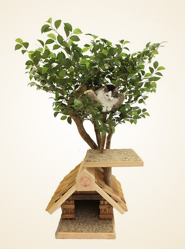 Pet Tree Houses Arbre Chat 4 Pet Tree Houses : Maisons Arbres en Bois pour Chats