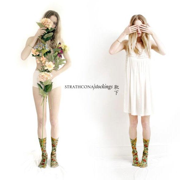 , Strathcona Stockings : Chaussettes Femmes Imprimés Colorés