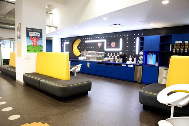 bureaux de google à new york city decoration tendance eclectique