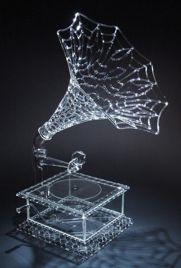 , Robert Mickelson : Artistiques Scuptures de Verre